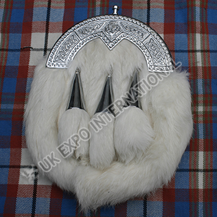White Rabbit fur with 3 Tassels