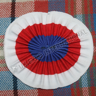White Red Blue Cockade for troop hat or shako