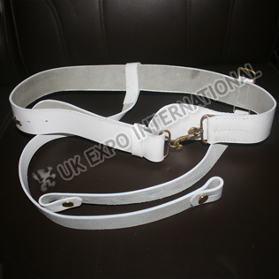 White sword Brass Snake buckle belt