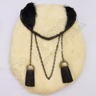 Wild Cat shape Scottish rabbit fur sporran