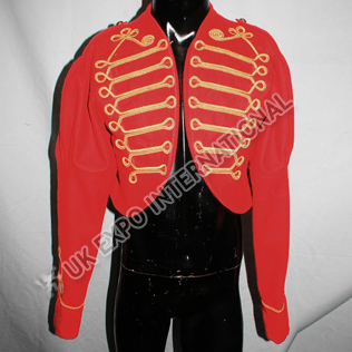 Women Red wine color hussar jacket