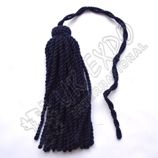 Woolen Tassels for Long sleeve hat Navy Blue