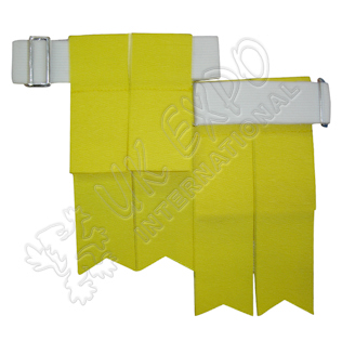 Yellow Color Garter Flashes With Adjustable Buckle