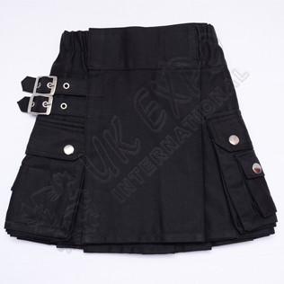 Youth Black Utility Kilts