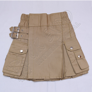 Youth Khaki Utility Kilts